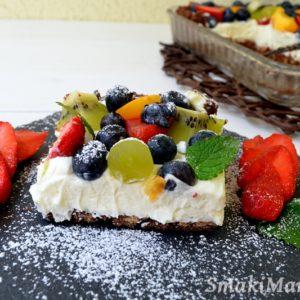 Tarta z owocami i mascarpone (bez pieczenia)