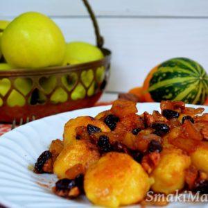 Leniwe z dynią i karmelizowanymi jabłkami