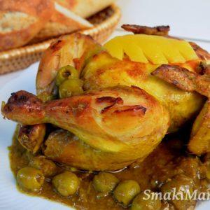 Kurczak z kiszonymi cytrynami i oliwkami po marokańsku (Djaj Mhamar)