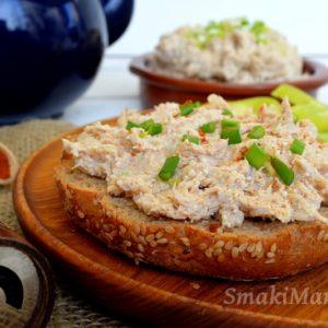 Pasta z wędzonej makreli i białego sera