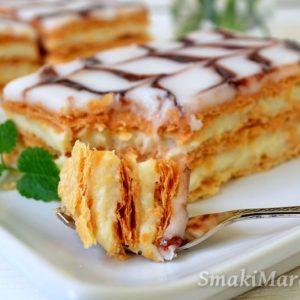 Millefeuille, francuskie ciasto z kremem budyniowym