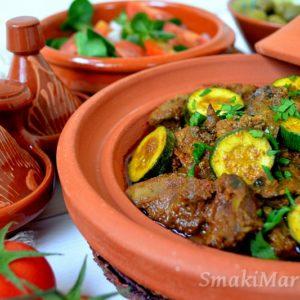 Wątróbka z cukinią po marokańsku (tagine z wątróbką)