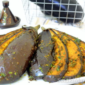Pieczone bakłażany po marokańsku