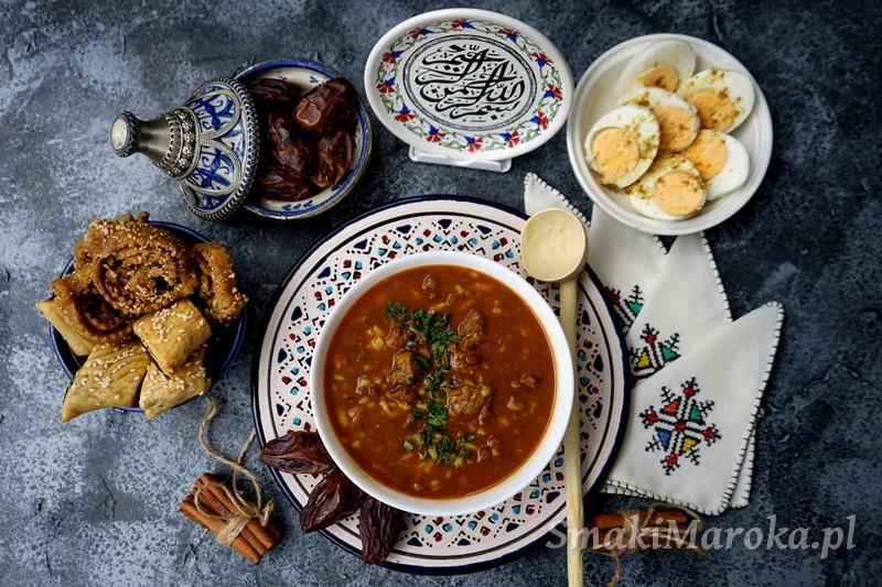 harira, zupa na ramadan, zupa z soczewicą, zupa arabska, kuchnia marokańska
