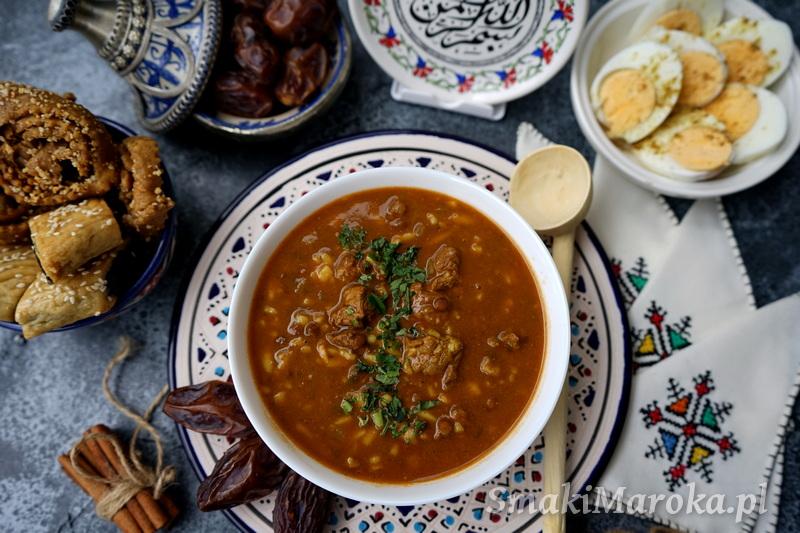 harira, moroccan soup, marokkanisches essen, cuisine marocaine, przepisy marokańskie,