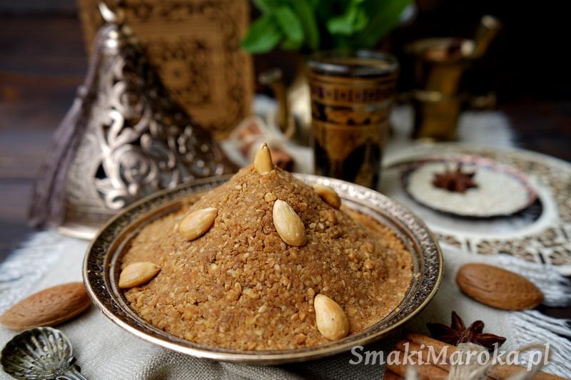 sfouf, sellou, cuisine marocaine, moroccan food, kuchnia arabska przepisy, kuchnia marokańska przepisy