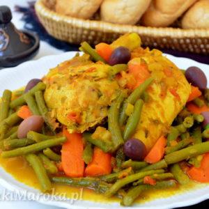 Fasolka szparagowa z kurczakiem po marokańsku