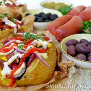 Kumpir turecki – faszerowane pieczone ziemniaki
