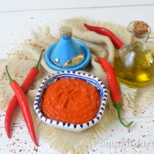 Harissa – arabska pasta chilli