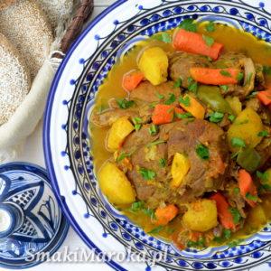 Jagnięcina z warzywami po marokańsku (gamila)