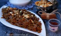 tfaya marocaine, tfaya, karmelizowana cebula, kuchnia marokańska, cebula na słodko
