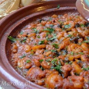 Tagine z krewetkami po marokańsku