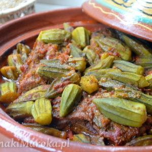 Mloukhia - marokański tagine z wołowiną i okrą