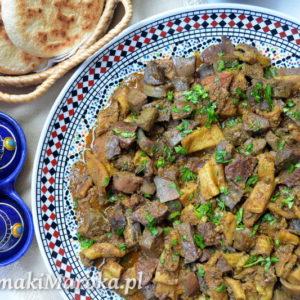 Tkalya - marokański sos z baranich podrobów