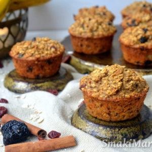 Śniadaniowe muffiny owsiane bez cukru