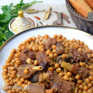 Ker3in - baranie nóżki w sosie z ciecierzycą po marokańsku