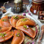 Smażony atayef (qatayef) z orzechami