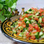 Marokańska sałatka z pomidorów i ogórka