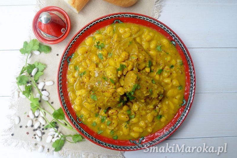 fasola po marokańsku, wołowinia, kiszone cytryny, loubia