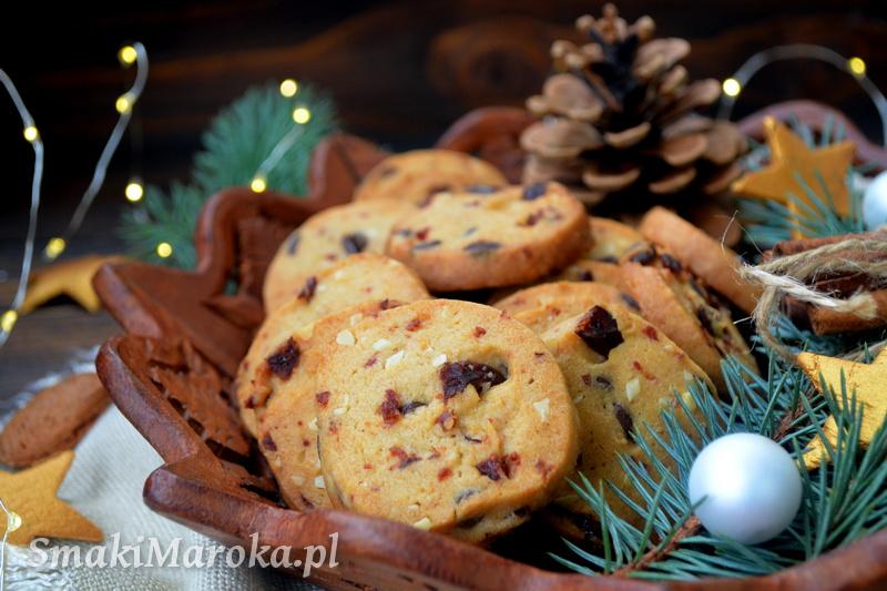 kruche ciasteczka z żurawiną, ciasteczka na Boże Narodzenie, szybkie ciasteczka