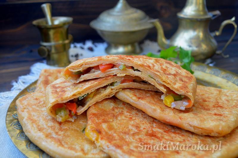 msemen, msemen z papryką, kuchnia marokańska, kuchnia marokańska blog,