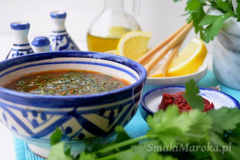 moroccan recipe, moroccan marinade, chermoula, marynata, marokańska marynata, kuchnia marokańska