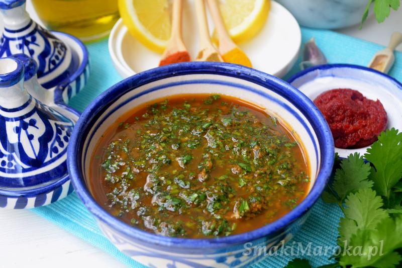 chermoula, kuchnia marokańska, marynata