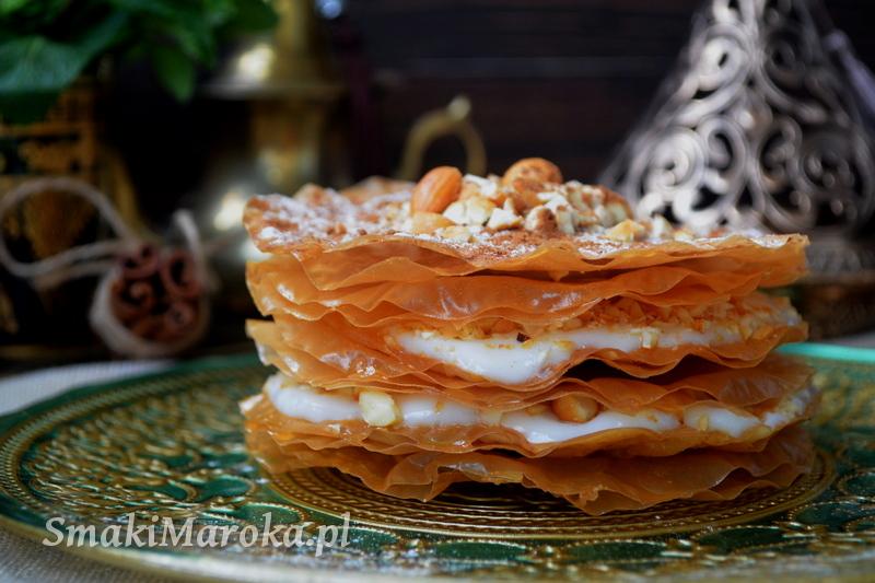 jouhara, deser arabski, kuchnia marokańska, ciasto filo, warka