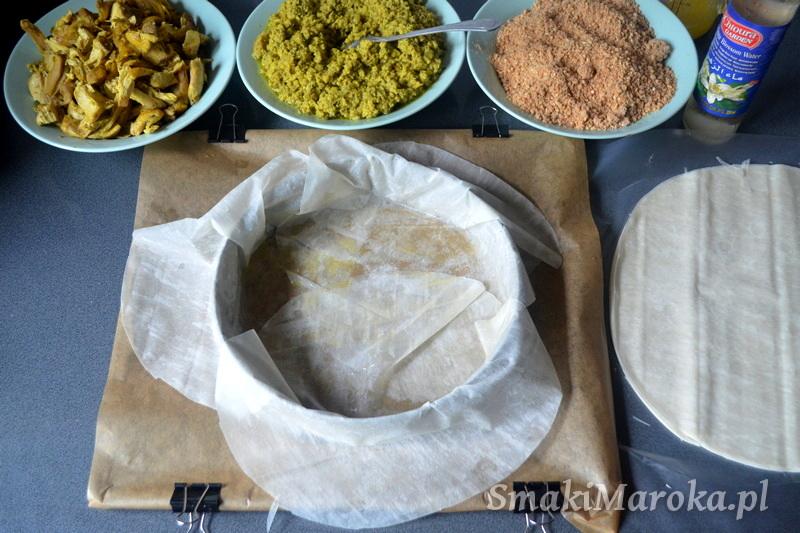 pastilla, kuchnia marokańska, kurczak