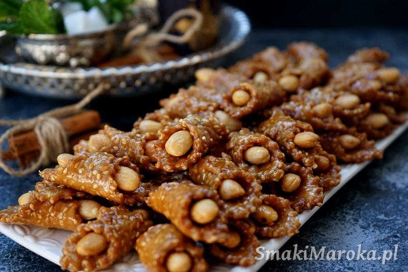 ciasteczka sezamowe, kuchnia marokańska blog, marokańskie ciastka