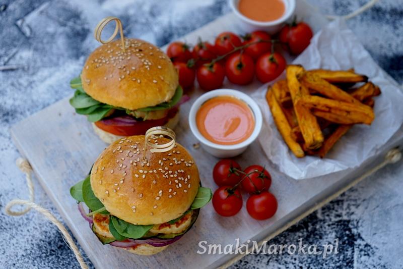 halloumi burger, burgery wegetariańskie, przepis