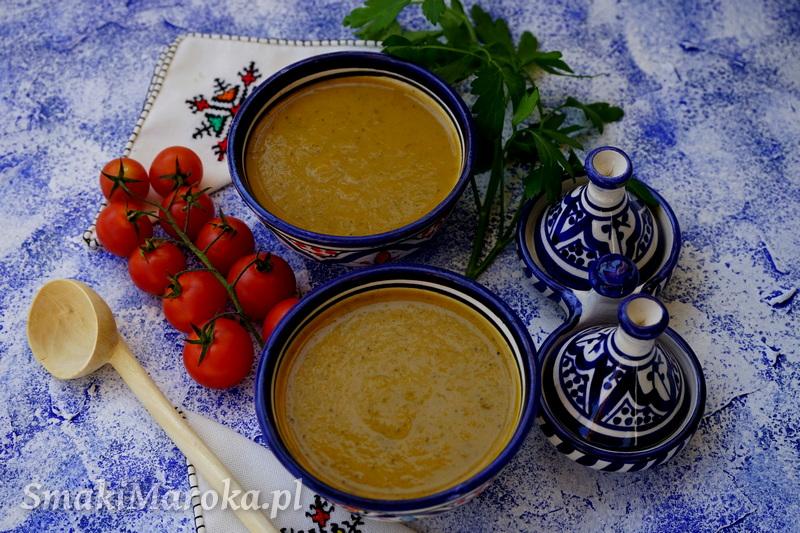 chorba marokańska, zupa warzywna krem, zupa marokańska