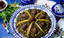 bakoula, baqoula, salade, maroko, sałatka szpinak