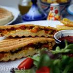 Marokański batbout w stylu panini