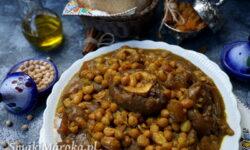 hargma, cuisine marocaine, nogi wołowe przepis, sos z ciecierzycą, kuchnia marokańska