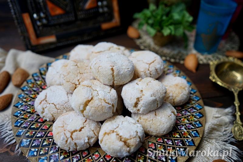ciasteczka marokańskie, ciasteczka arabskie, ghriba, bezglutenowe