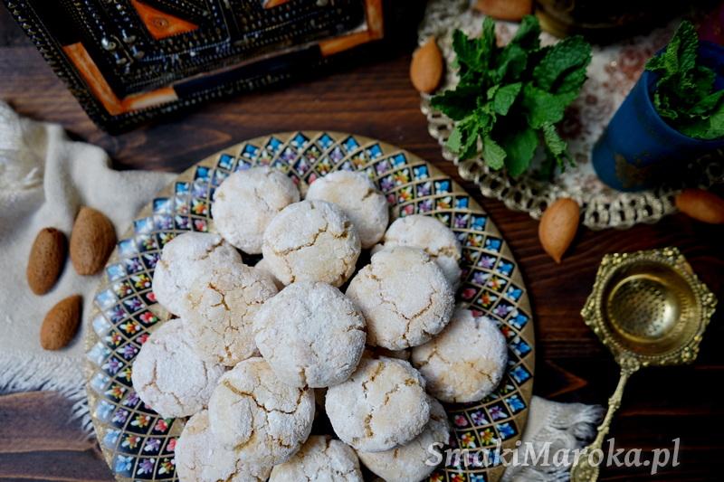 ghriba, ciasteczka marokańskie, bezglutenowe, migdałowe,kuchnia marokańska