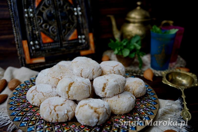 ghriba, moroccan cookies, grhiba louz, ciasteczka bezglutenowe, ciasteczka z migdałami