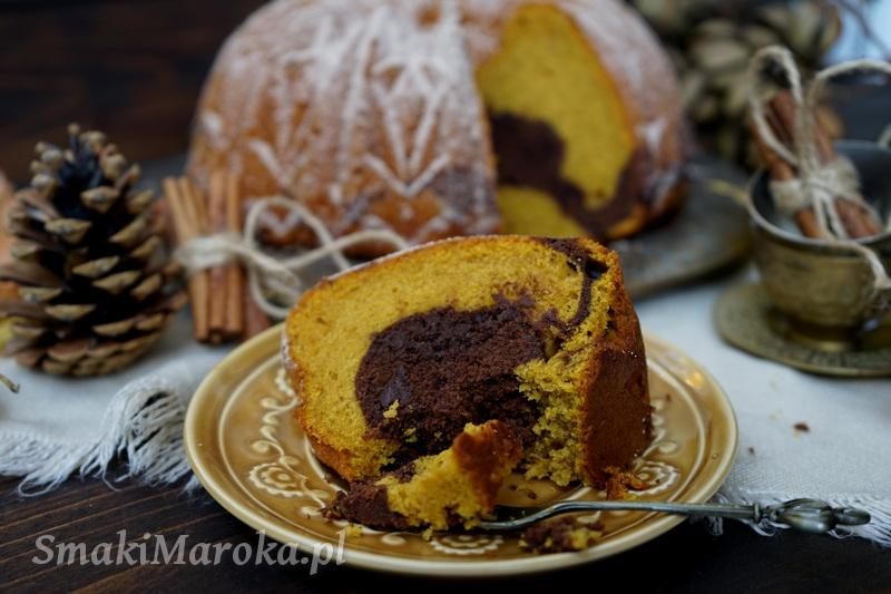 babka, babka marmrukowa, ciasto dyniowe, co zrobić z dyni, nordic ware forma, smaki maroka