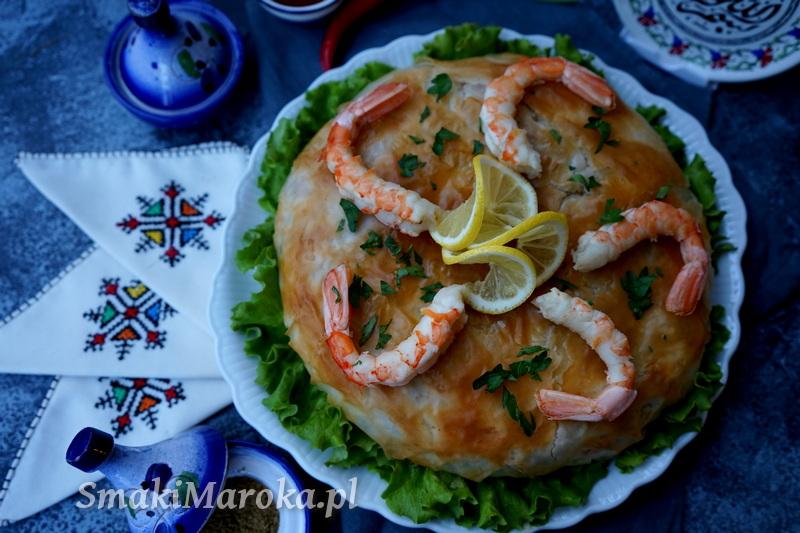ciasto filo przepis, krewetki, kalmary, kuchnia arabska, kuchnia marokańska, blog, przepis