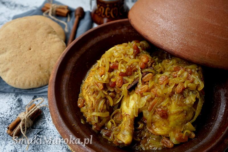 tagine marokańskie, przepis na tagine, kuchnia marokańska, tagine z kurczakiem i cebulą, smaki maroka, przepisy marokańskie blog