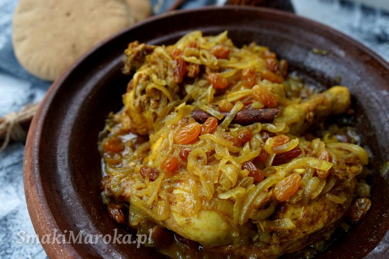 tajine, tagine, jak zrobić tagine z kurczakiem, karmelizowana cebula. kurczak na słodko, smaki maroka
