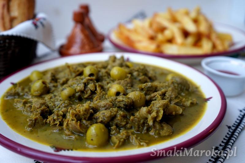 przepis na żołądki, co zrobić z drobiowych żołądków, żołądki w sosie, kuchnia marokańska przepisy,
