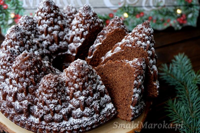 babka piernikowa, forma nordic ware przepis, nordic ware pine forest bundt pan, gingerbread bundt