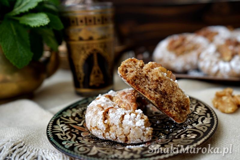 ghriba, ciasteczka arabskie, ciasteczka orzechowe, łatwy przepis na ciasteczka, kuchnia marokańska, cuisine marocaine, moroccan food