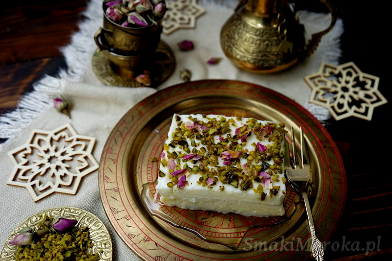 layali lubnan, deser arabski, kuchnia libańska, pudding mleczny, semolina, ashta, clotted cream, ramadan recipes,