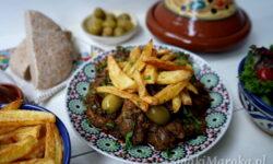 wątróbka drobiowa, przepis na wątróbkę, chermoula, marynata, frytki, kuchnia marokańska przepisy, Maroko przepisy