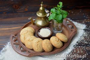 Ghriba bahla - marokańskie ciasteczka sezamowe