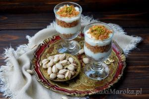 Kadayif z puddingiem mahalabia
