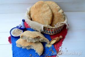 Marokański chleb khobz pszenno-jęczmienny